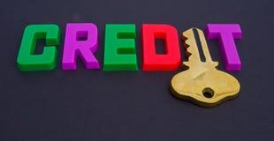 kredytowy klucz Zdjęcie Stock