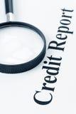 kredytowy raport Zdjęcia Royalty Free