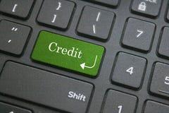Kredytowy słowo na komputerowej klawiaturze Obraz Royalty Free