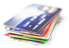 Kredytowych kart sterta Fotografia Royalty Free