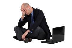 Kreeg een hoofdpijn. Stock Foto