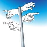 Kreeg ons handenhoogtepunt Stock Illustratie