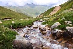 Kreek in de bergen royalty-vrije stock fotografie