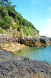 Kreek in Guernsey stock foto