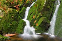Kreek met watervallen Stock Foto's