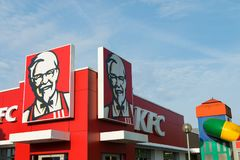 Krefeld Deutschland am 24. Juni 2018: Restaurant KFCs Kentucky Fried Chicken Stockbild