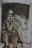 Kreide Charlien Chaplin Lizenzfreie Stockfotos