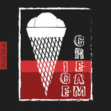 Kreide gemalte Illustration der Eiscreme menü Lizenzfreie Stockfotos