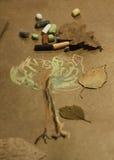 Kreide gemalter Baum Stockfotos