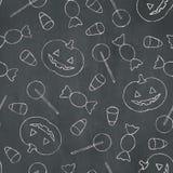 Kreide-Halloween-Hintergrund Lizenzfreies Stockfoto