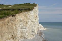 Kreide-Klippen in Sussex england Stockbilder
