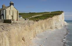 Kreide-Klippen in Sussex england Stockbild
