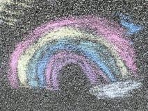 Kreide-Regenbogen lizenzfreie stockbilder