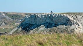 Kreideartiges Bergrot, Wolgograd-Region, Russland Vor gebildet durch weiße Kreide deposites Millionen Jahren lizenzfreies stockfoto