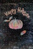 Kreidebild glückliches Halloween stockfoto