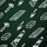 Kreidehintergrundwerkzeuge Lizenzfreies Stockbild