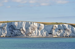 Kreideklippen nähern sich Dover Stockfoto