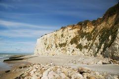 Kreideklippen Normandie lizenzfreies stockbild