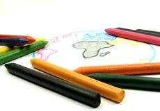 Kreiden und Zeichnungserde Lizenzfreie Stockbilder