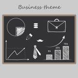 Kreidesatz Geschäftsbilder Lizenzfreie Stockfotografie