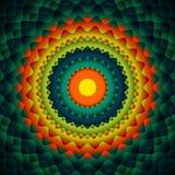 Kreis-abstrakter Hintergrund Lizenzfreie Stockfotografie