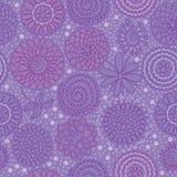 Kreis-Blumen-Gruppen-nahtloses Muster Stockfotografie