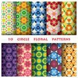 Kreis-Blumenmuster-Art Stockfotografie