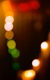 Kreis-bokeh beleuchtet Hintergrund in den vibrierenden Farben Lizenzfreies Stockfoto