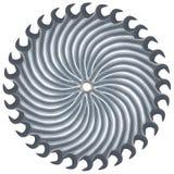 Kreis das Sägeblatt, das von den Schlüsseln hergestellt wurde Lizenzfreie Stockfotografie