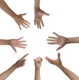 Kreis der Hände lizenzfreie stockfotos