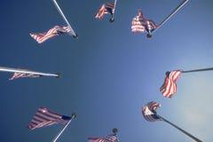 Kreis der US-Markierungsfahnen Lizenzfreie Stockbilder