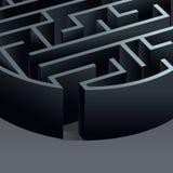 Kreis des Labyrinths 3d Stockfotografie