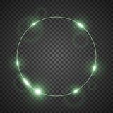 Kreis des Lichtes, grüne Farbe lizenzfreie abbildung
