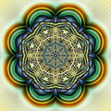 Kreis geometrischer Fractal II Lizenzfreies Stockfoto