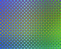 Kreis-Grün der OPkunst-tausend zu Blauem und zu Orange Stockfotos
