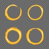 Kreis-Grenzsatz des Schmutzes goldener stock abbildung