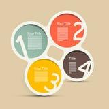 Kreis Infographic-Plan Stockfotos
