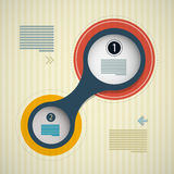 Kreis Infographics-Hintergrund, Webdesign-Entwurf Lizenzfreies Stockbild