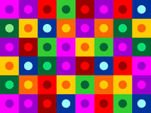 Kreis innerhalb der quadratischen Beschaffenheit Stockfoto