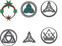 Kreis Logo Design Lizenzfreies Stockbild