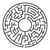 Kreis Maze Vector Lizenzfreie Stockfotos
