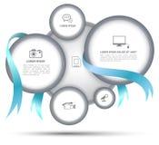 Kreis mit Band für Geschäftskonzept Lizenzfreie Abbildung