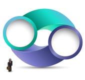 Kreis mit Geschäftsmann Lizenzfreie Abbildung
