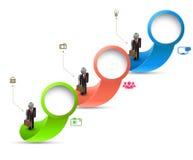Kreis mit Geschäftsmann Stock Abbildung