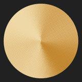 Kreis mit konischem Halbtonsteigungseffekt Lizenzfreies Stockbild