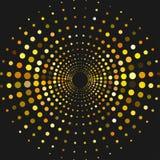 Kreis mit Punkten für Projektplanung Halbtoneffektillustration Bunte Punkte auf weißem Hintergrund Colrful-Sonnendurchbruch backg vektor abbildung