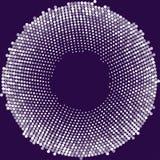 Kreis mit Punkten für Projektplanung Halbtoneffektillustration Bunte Punkte auf weißem Hintergrund Purpurroter Hintergrund Rou lizenzfreie abbildung