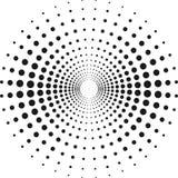Kreis mit Punkten für Projektplanung Halbtoneffektvektorillustration stock abbildung