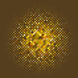 Kreis mit Punkten für Projektplanung Halbtoneffektvektorillustration Bunte Punkte stock abbildung