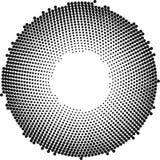 Kreis mit Punkten für Projektplanung Halbtoneffektvektorillustration punkte stock abbildung